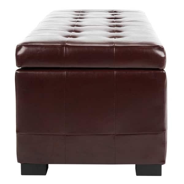 Phenomenal Shop Safavieh Large Cordovan Manhattan Storage Bench 48 X Beatyapartments Chair Design Images Beatyapartmentscom