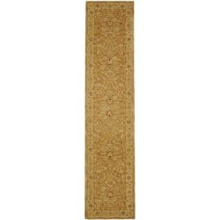 Safavieh Handmade Anatolia Oriental Tan/ Ivory Hand-spun Wool Runner (2'3 x 16')