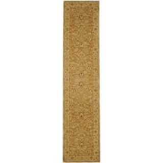 Safavieh Handmade Anatolia Oriental Tan/ Ivory Hand-spun Wool Runner (2'3 x 20')|https://ak1.ostkcdn.com/images/products/4233478/4233478/Handmade-Ancestry-Tan-Ivory-Wool-Runner-23-x-20-P12224792.jpg?impolicy=medium