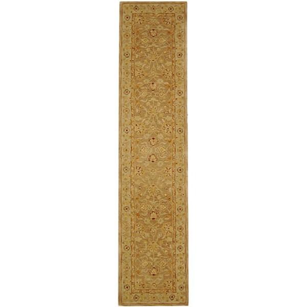 Safavieh Handmade Anatolia Oriental Tan/ Ivory Hand-spun Wool Runner (2'3 x 20')
