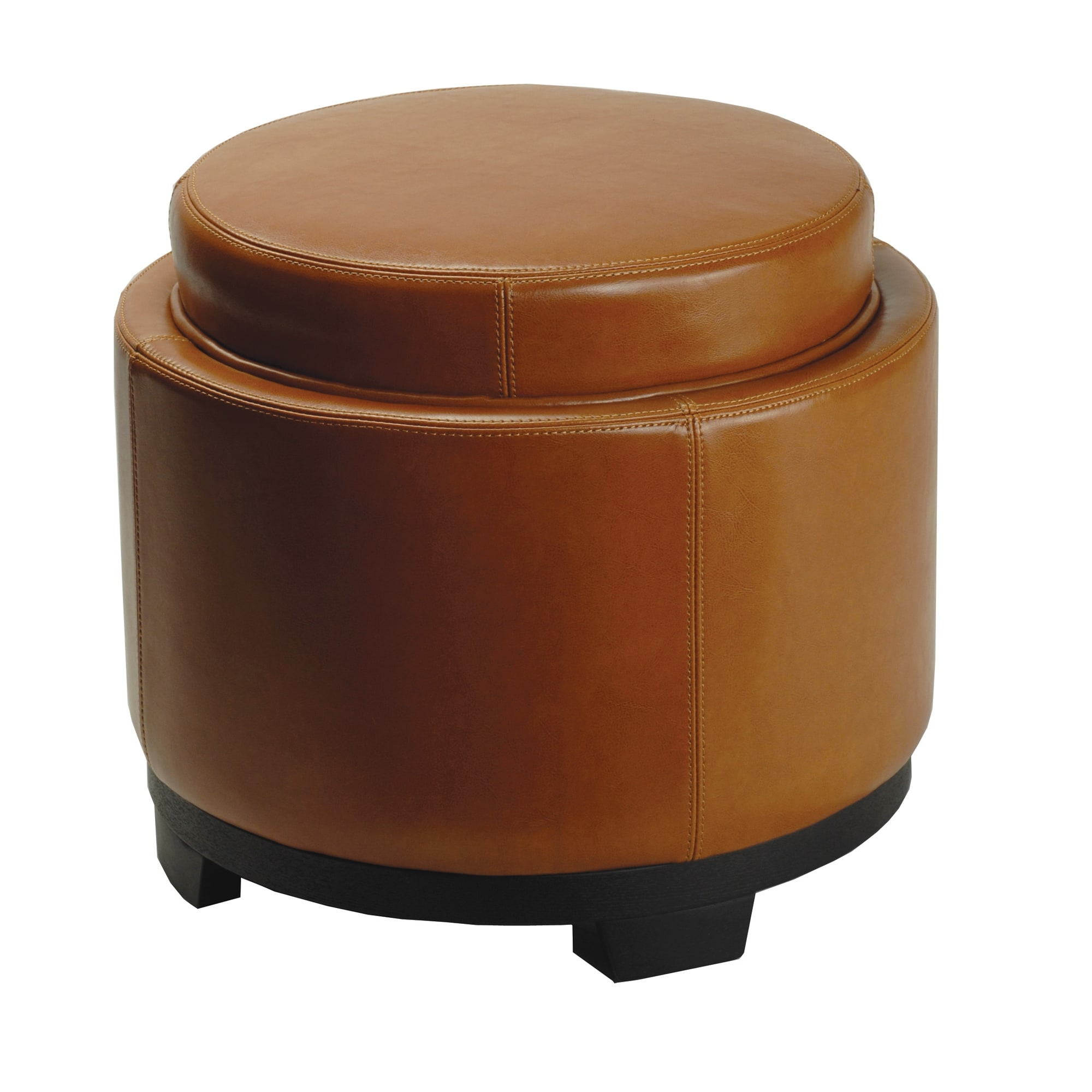 Peachy Details About Safavieh Round Storage Tray Saddle Ottoman Brown 19 X 19 X 17 Dailytribune Chair Design For Home Dailytribuneorg