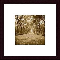 Wampler 'Central Park' Wood Framed Art Print