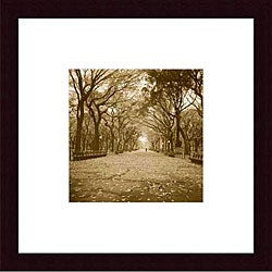 Wampler 'Central Park' Wood Framed Art Print