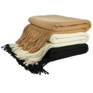 Cashmere Showroom Basketweave Throw Blanket