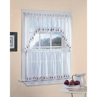 Apple Orchard Kitchen 5-piece Window Tier and Swag Set