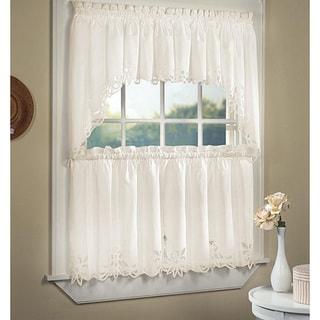 Battenburg Cotton Lace 5-piece Window Tier and Swag Set