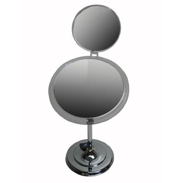 Zadro MA47 Adjustable 7x-5x Satin Nickel Pedestal Mirror