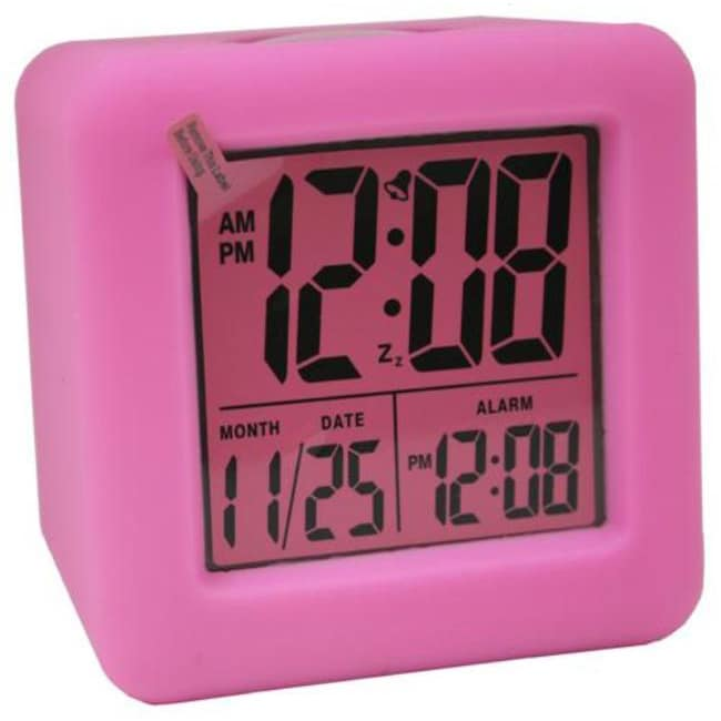 Equity by La Crosse 70902 Textured Cube LCD Alarm Clock