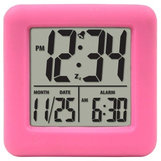 Equity by La Crosse 70902 Soft Pink Cube LCD Alarm Clock