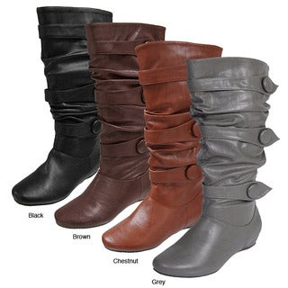 Journee Collection Women's 'Bamboo' Slouchy Boots