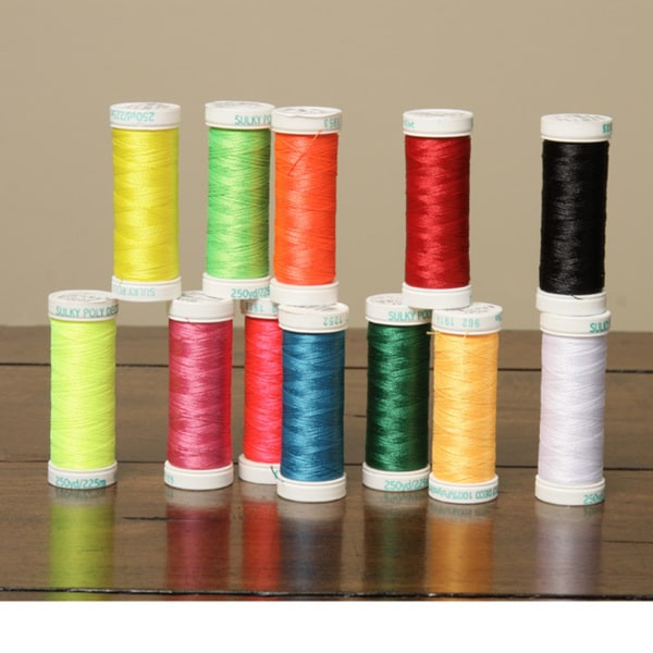 Sulky 40-weight PolyDeco Embroidery Thread Colors (Set of 12)
