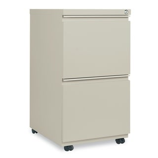 Alera Two-Drawer Metal Pedestal File With Full-Length Pull, Putty