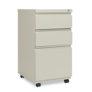 Alera Three-Drawer Metal Pedestal File With Full-Length Pull, Putty