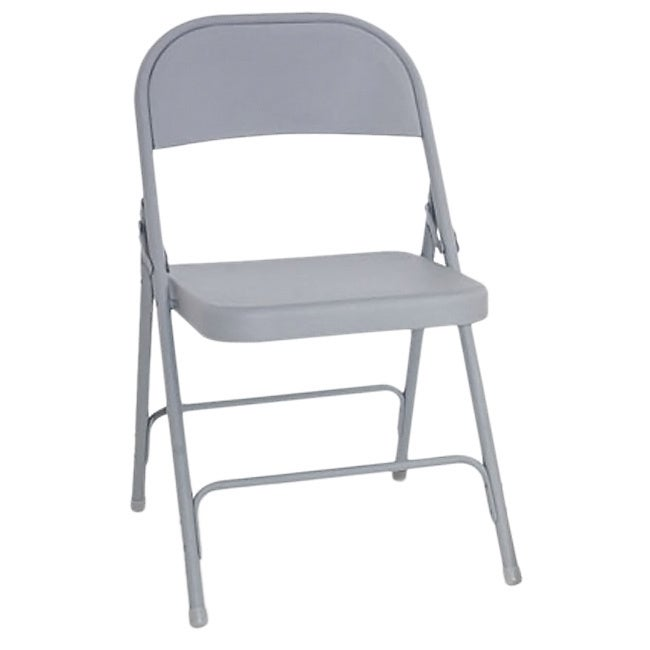 Alera Steel (Silver) Folding Chair (Set of 4)