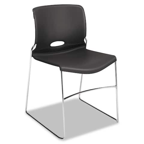 HON Olson Stacking Chair - Guest Chair for Office, Break Rooms, Training or Multi-Purpose Rooms, 4 pack (H4041)