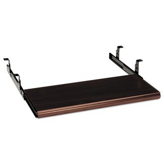 HON Slide-Away Mahogany Woodgrain Finish Keyboard Platform