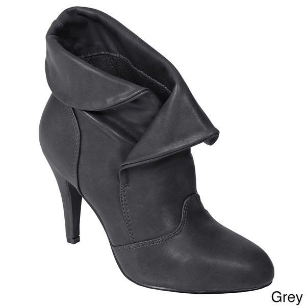 Journee Collection Women's 'Betsy-1' High Heel Ankle Boots