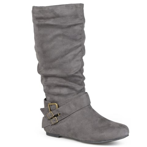 Journee Collection Women's 'Shelley-6' Regular and Wide-calf Buckle Slouch Boot