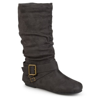 Link to Journee Collection Women's 'Shelley-6' Regular and Wide-calf Buckle Slouch Boot Similar Items in Women's Shoes