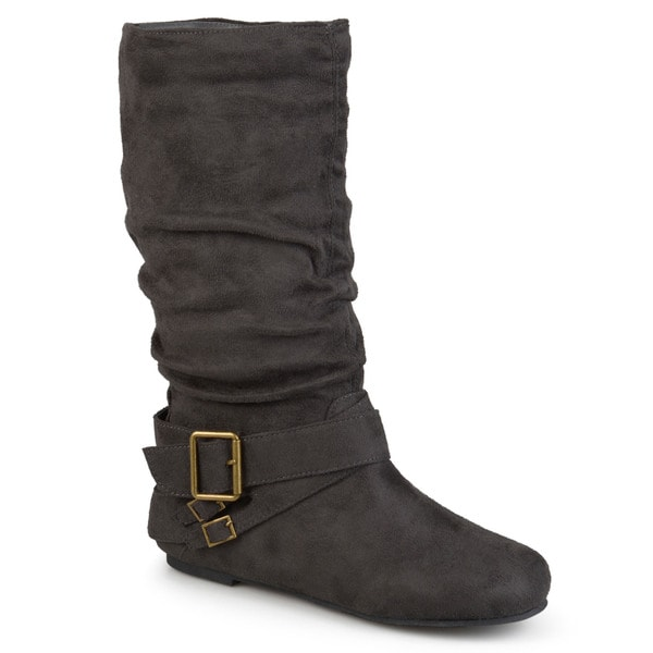 Journee Collection Women's 'Shelley-6' Regular and Wide-calf Buckle Slouch Boot. Opens flyout.
