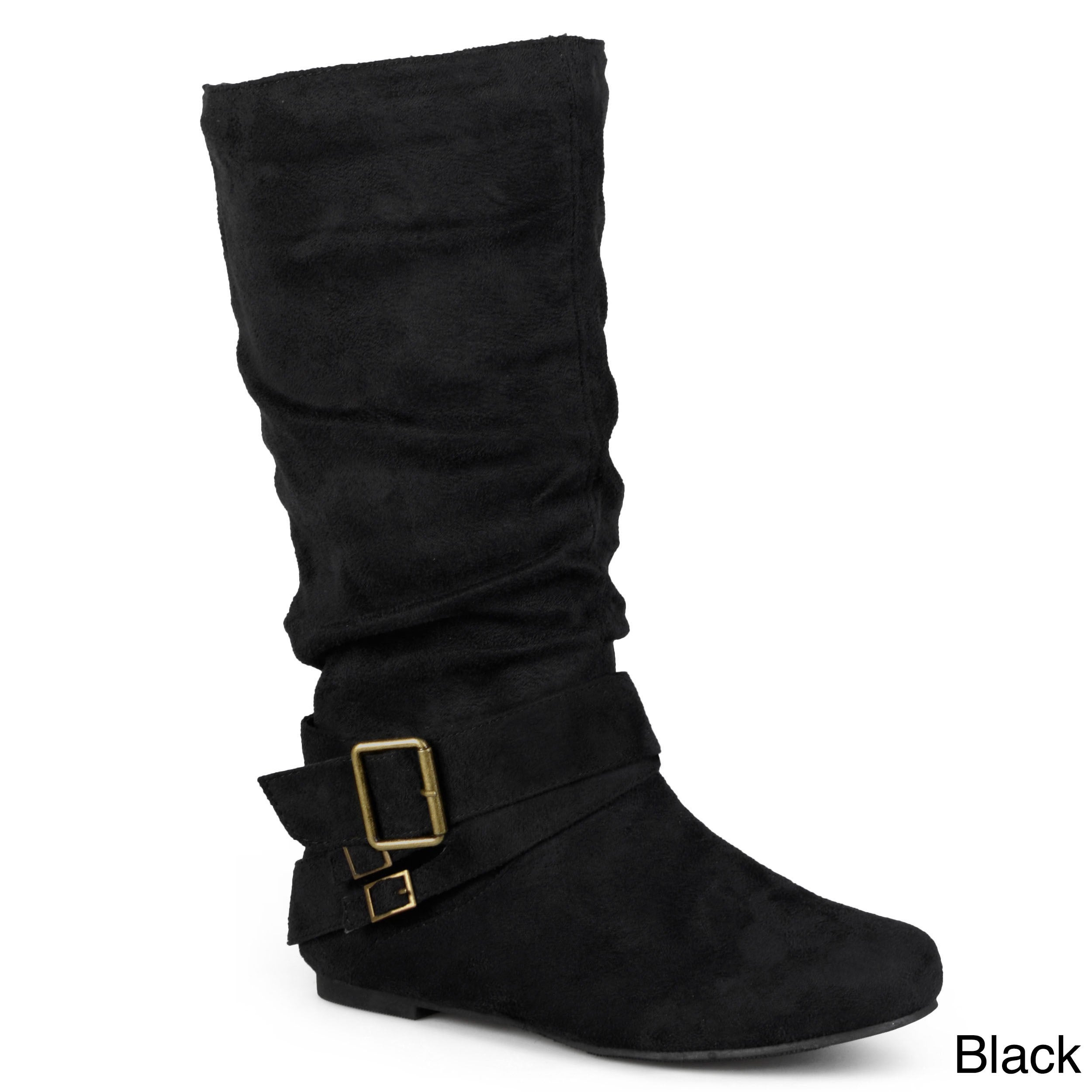 d45776f3570c Shop Journee Collection Women's 'Shelley-6' Regular and Wide-calf Buckle Slouch  Boot - Free Shipping Today - Overstock - 4239698