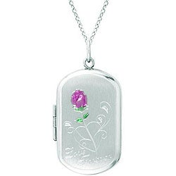Sterling Silver Oval-shaped 'Love Forever' Locket