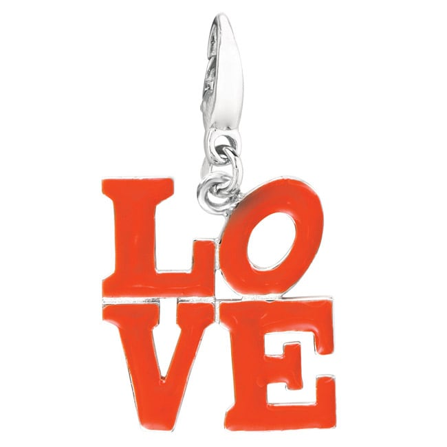 Sterling Silver 'LOVE' Charm