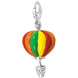 Sterling Silver Enamel Hot Air Balloon Charm
