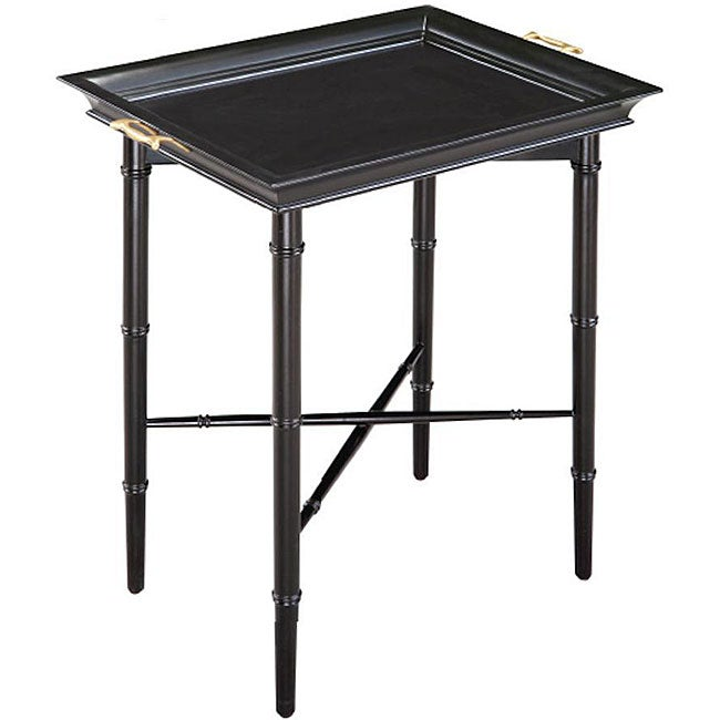 Ebony Finish Square Tray Table