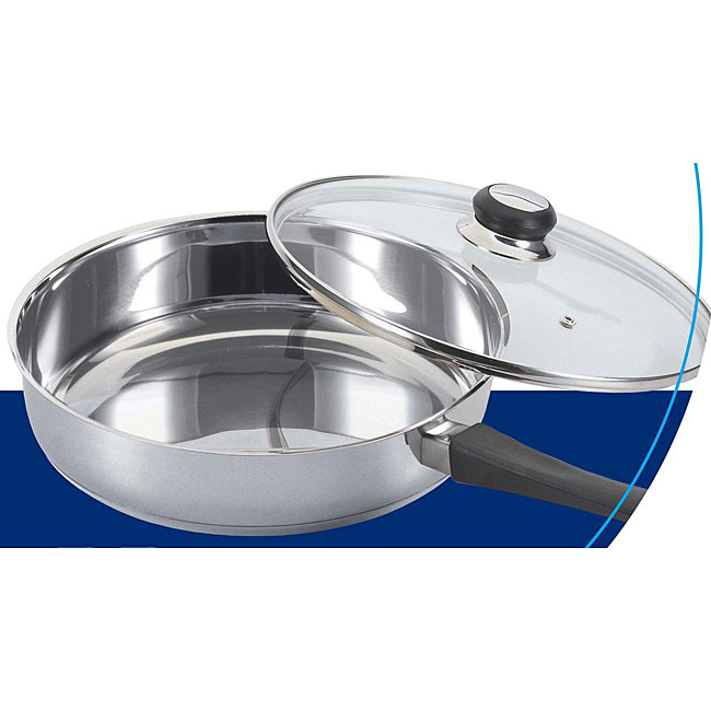 Stainless Steel 9-inch Saute Pan with Glass Cover