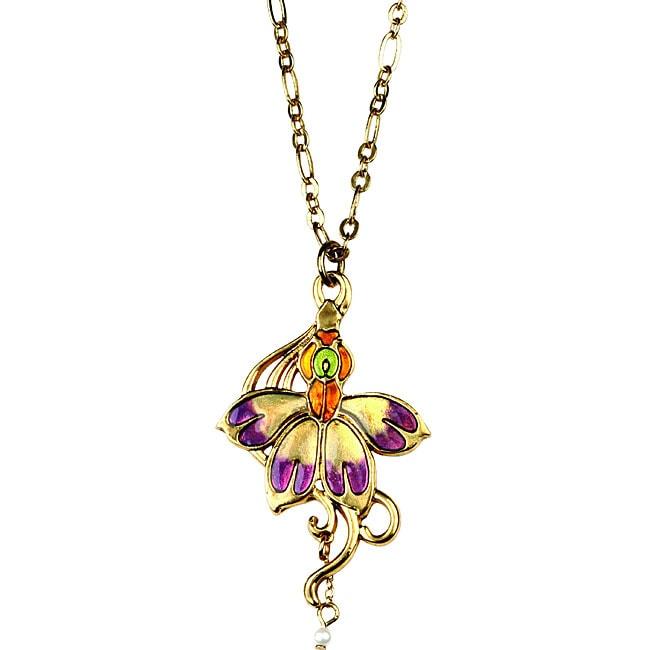 Pewter Summer Blossom Vintage Necklace