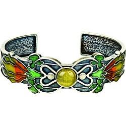 Pewter Art Nouveau Blossom Cuff Bracelet - Thumbnail 0