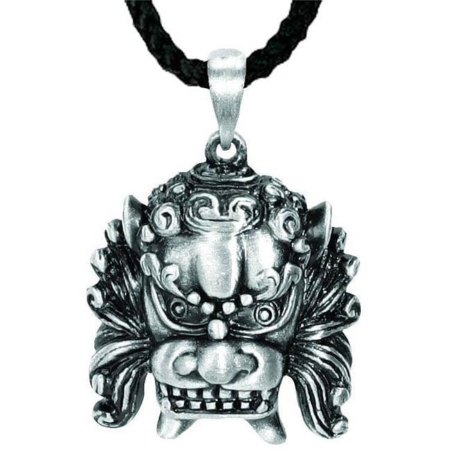 Pewter Foo Dog Necklace