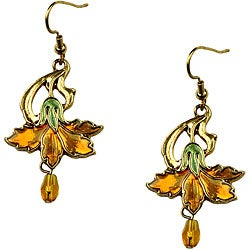 Pewter Vintage Marigold Earrings