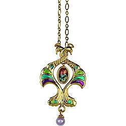 Goldtone Pewter CZ Double Peacock Art Deco Vintage Necklace|https://ak1.ostkcdn.com/images/products/4243655/Goldtone-Pewter-CZ-Double-Peacock-Art-Deco-Vintage-Necklace-P12232007.jpg?_ostk_perf_=percv&impolicy=medium
