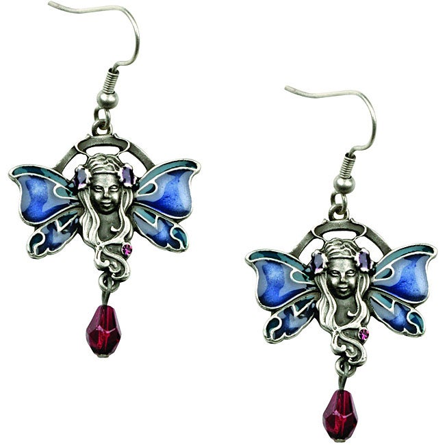 Pewter Cubic Zirconia Fairy Earrings