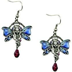 Pewter Cubic Zirconia Fairy Earrings