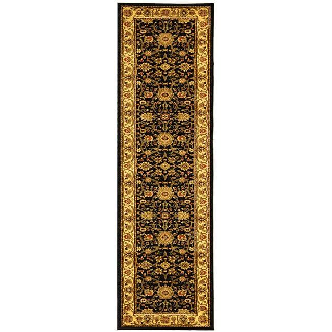 Safavieh Lyndhurst Traditional Oriental Black/ Ivory Runner Rug - 2'3 x 14'