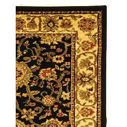 Safavieh Lyndhurst Traditional Oriental Black/ Ivory Runner (2'3 x 14') - Thumbnail 1