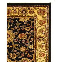 Safavieh Lyndhurst Traditional Oriental Black/ Ivory Runner (2'3 x 16') - Thumbnail 1