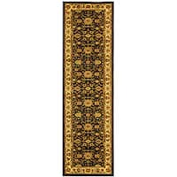 Safavieh Lyndhurst Traditional Oriental Black/ Ivory Runner Rug - 2'3 x 16'