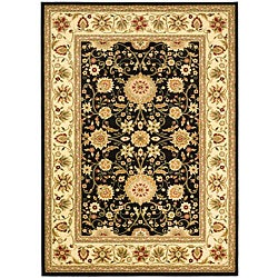 Safavieh Lyndhurst Traditional Oriental Black/ Ivory Rug (6' x 9')