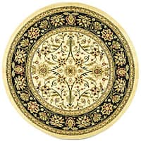 "Safavieh Lyndhurst Traditional Oriental Ivory/ Black Rug - 5'3"" x 5'3"" round"