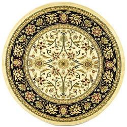 Safavieh Lyndhurst Traditional Oriental Ivory/ Black Rug (8' Round)