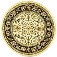 Safavieh Lyndhurst Traditional Oriental Ivory/ Black Rug - 8' x 8' Round