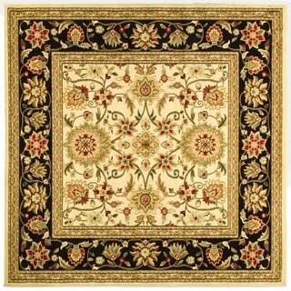Safavieh Lyndhurst Traditional Oriental Ivory/ Black Rug (6' Square)