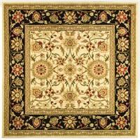 Safavieh Lyndhurst Traditional Oriental Ivory/ Black Rug - 6' x 6' Square