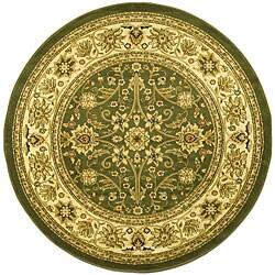 Safavieh Lyndhurst Traditional Oriental Sage/ Ivory Rug (5'3 Round)