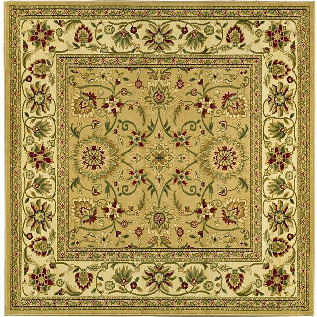 Lyndhurst Collection Majestic Beige/ Ivory Rug (6 Square)