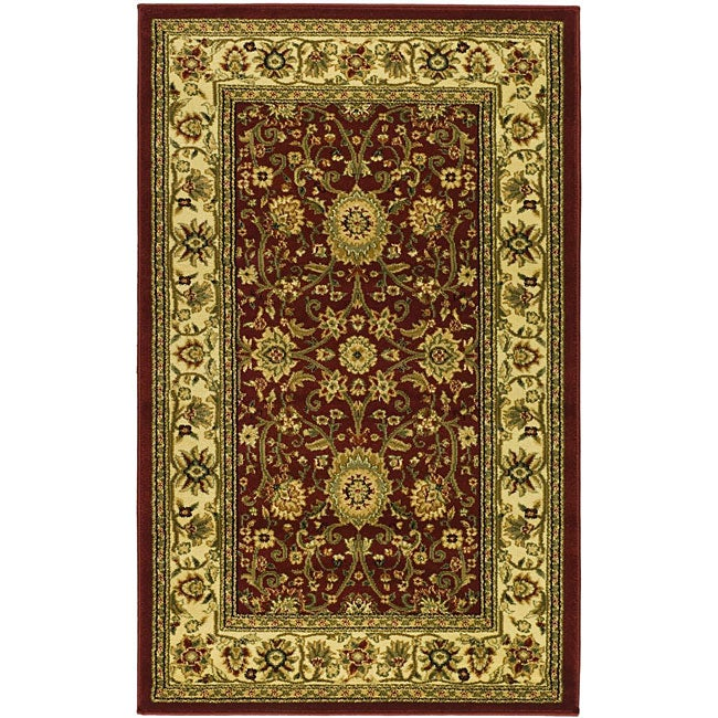 Lyndhurst Collection Majestic Red/ Ivory Rug (33 X 53)